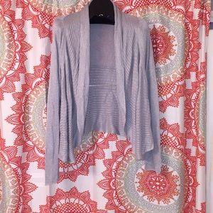 WILLI SMITH L Cardigan Sweater Top